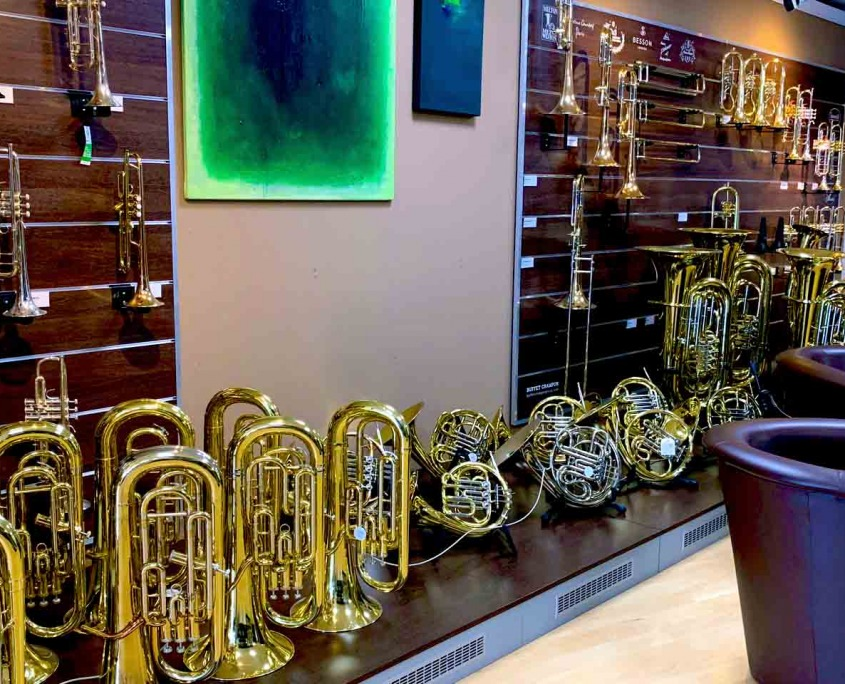 Instrumente-Bläserstudio