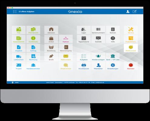 Startbildschirm onexio | iMac